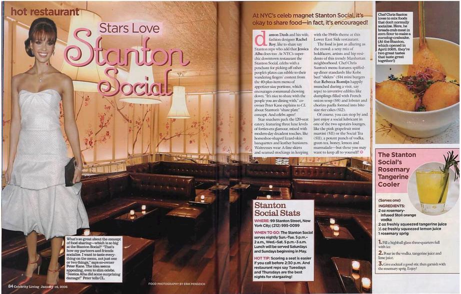 Stanton Social Restaurant, New York
