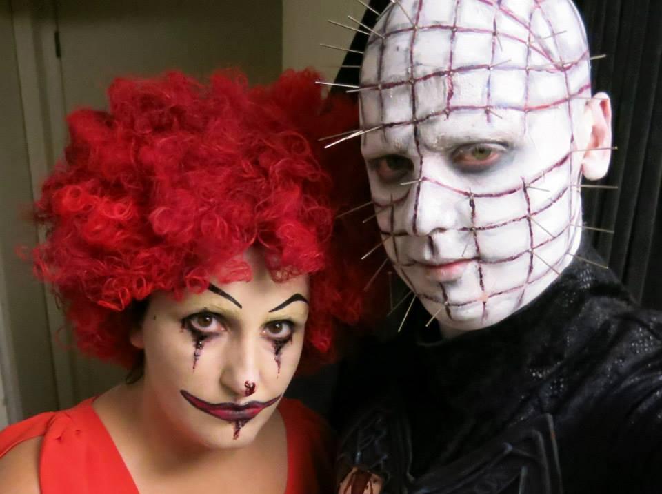 Halloween Makeup: Scary Clown & Hellraiser