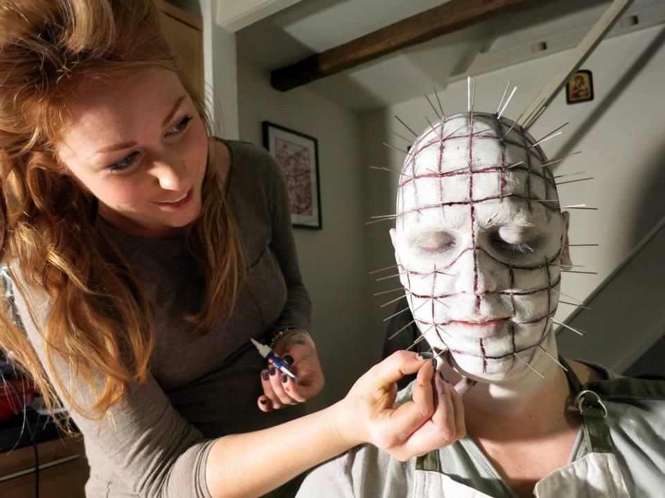 Perfecting the Halloween makeup