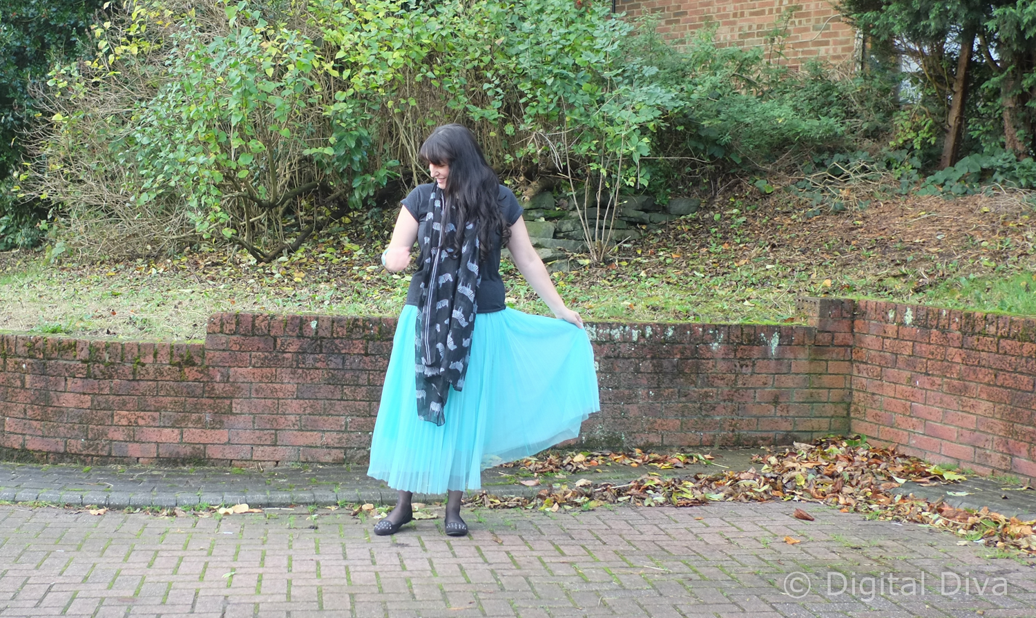 Pleated Tulle Skirt from Joy