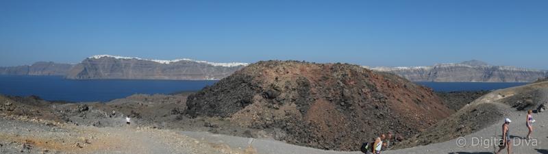 Volcano at Santorini
