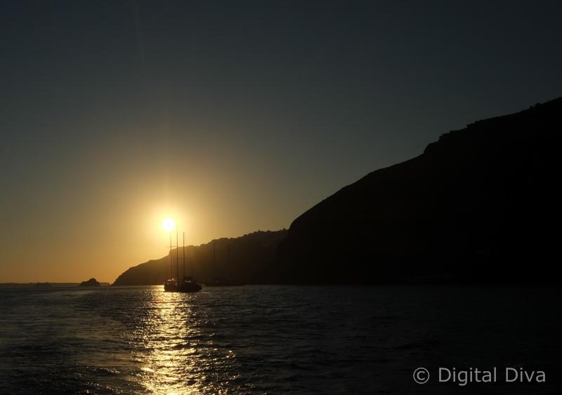 Sunsets in Santorini