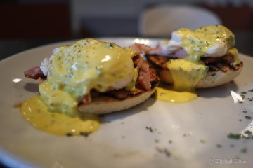 Eggs Benedict at The Woods