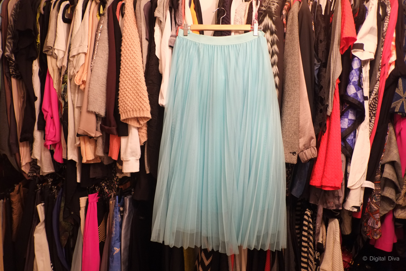 Mint Pleated Tulle Skirt