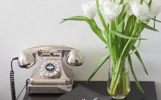 Silver Retro Telephone