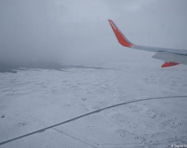 Flying to Iceland