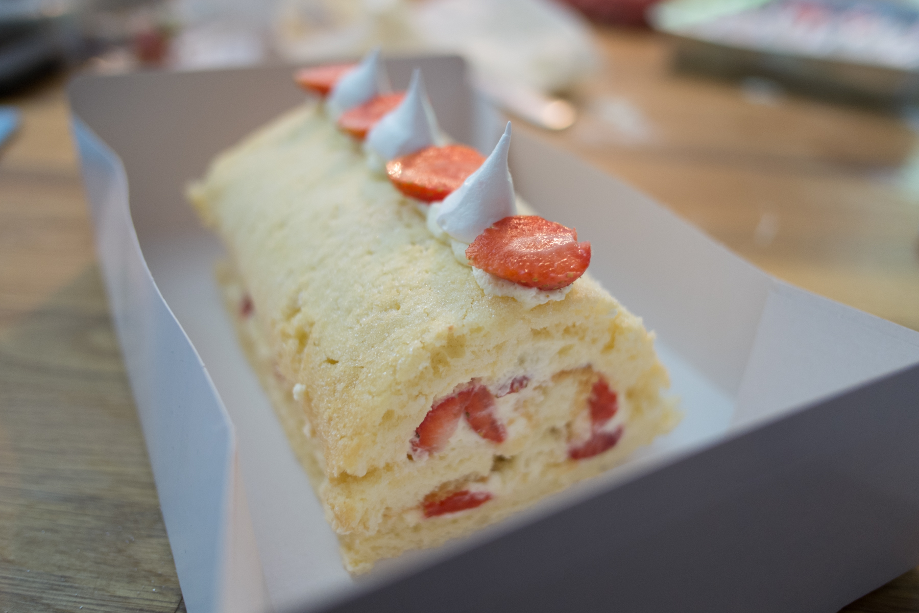 Strawberries & Cream Swiss Roll