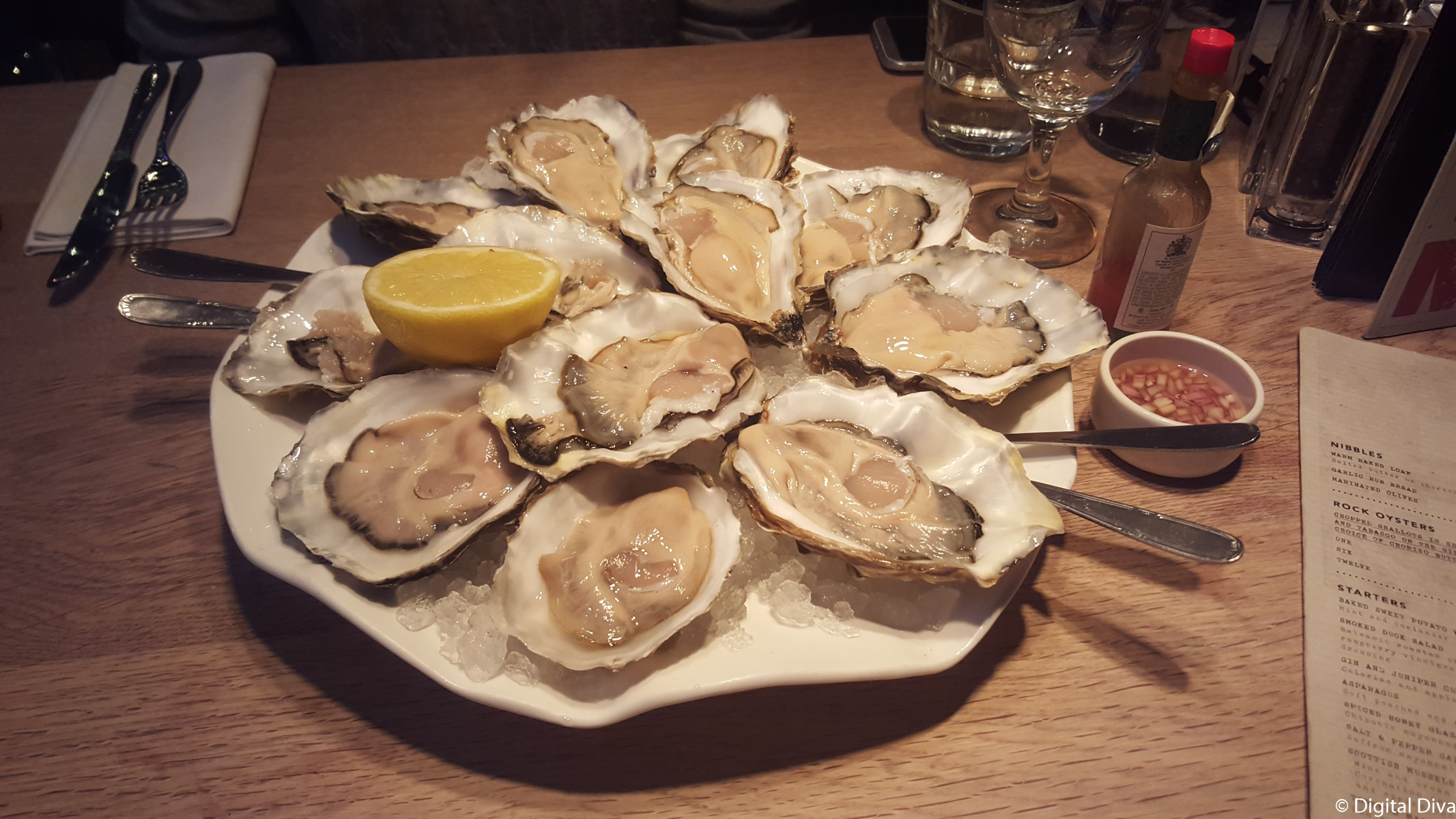 Oysters at Blackhouse