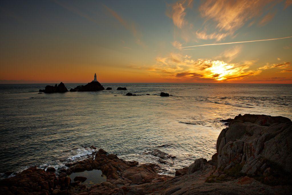 La Corbière Lighthouse in Jersey