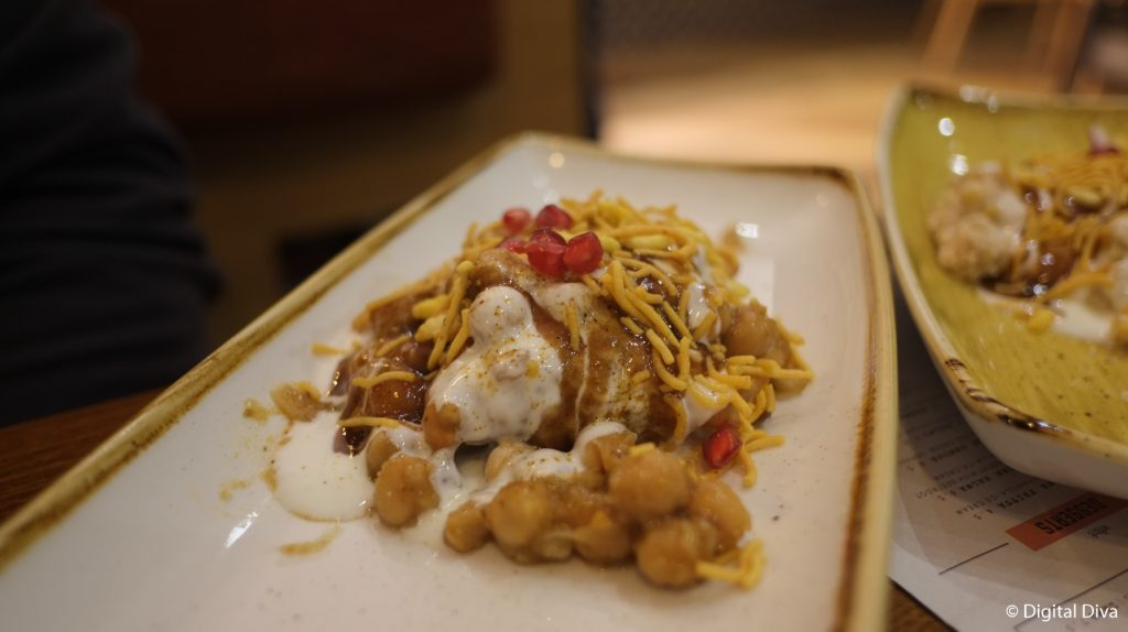 Meat Samosa Chaat