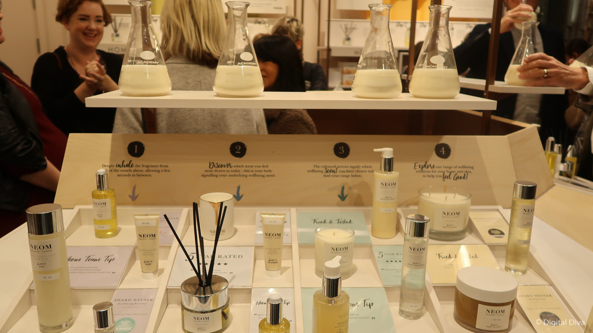 Scent Discovery Bar at Victoria Leeds